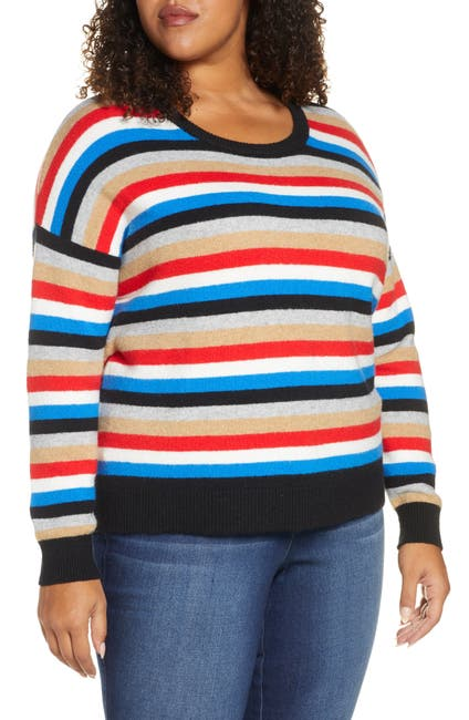 Image of COURT AND ROWE Multistripe Crewneck Sweater