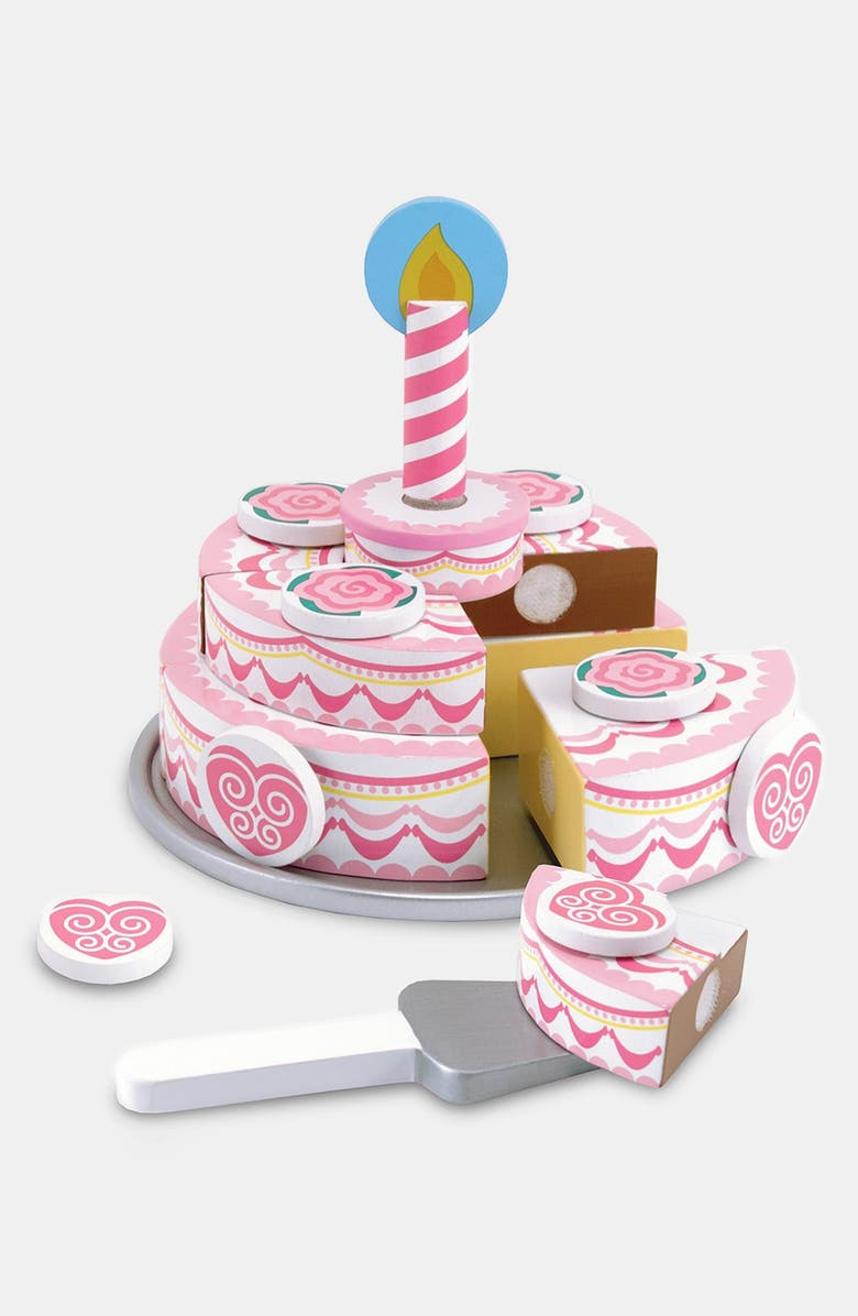 MELISSA & DOUG Triple Layer Party Cake, Main, color, PINK MULTI