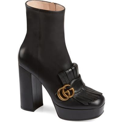 Gucci Gg Platform Bootie - Black