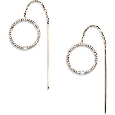 Nadri Mercer Pave Circle Threader Earrings
