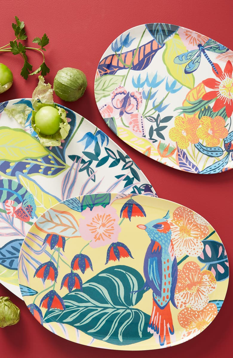 ANTHROPOLOGIE Tropical Melamine Platter, Main, color, MULTI-SMALL