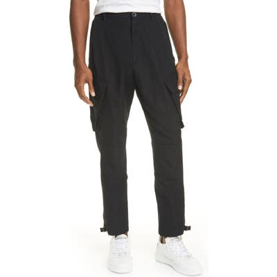 Givenchy Cotton Blend Cargo Pants, Black