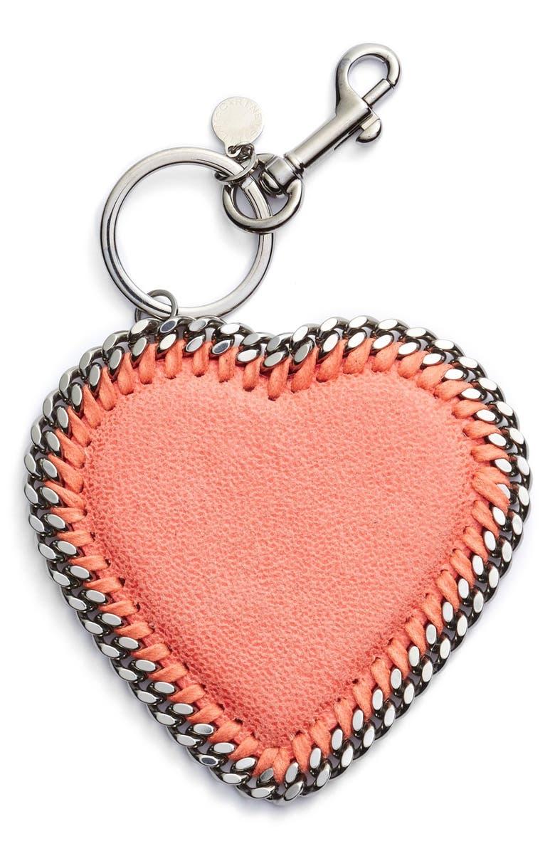 STELLA MCCARTNEY Heart Bag Charm, Main, color, 650