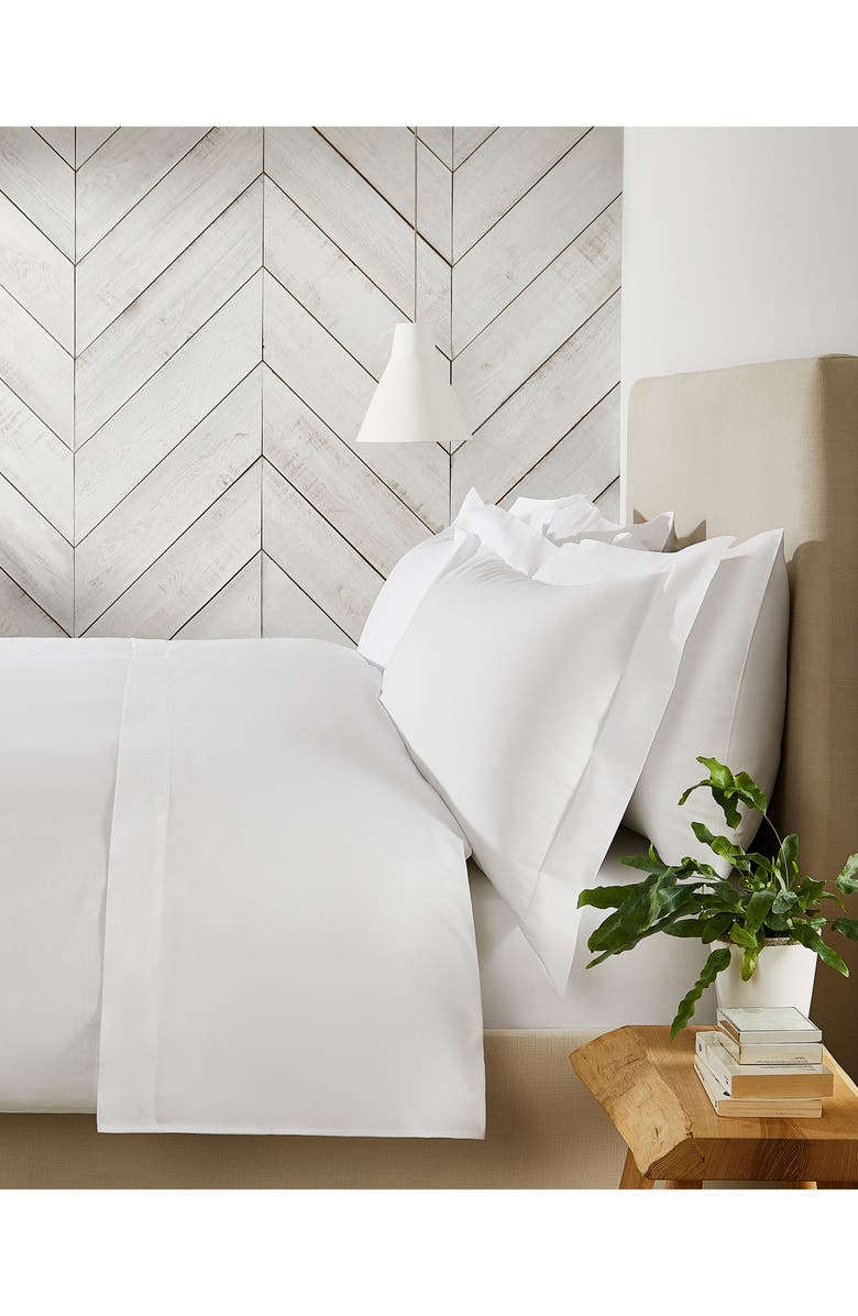 THE WHITE COMPANY Egyptian Cotton Duvet Cover, Main, color, 100