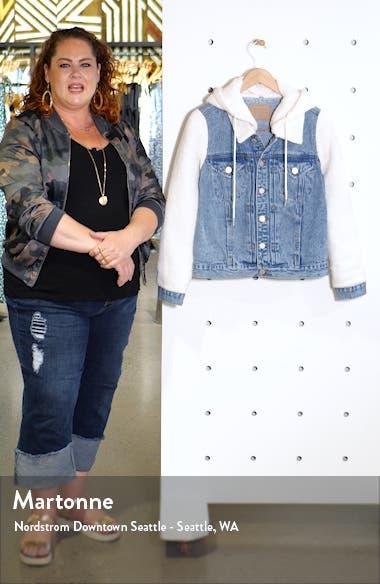 Fleece Contrast Denim Jacket, sales video thumbnail