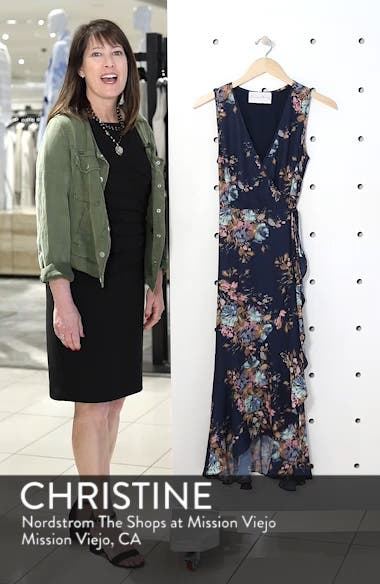 Floral Sleeveless Wrap Dress, sales video thumbnail