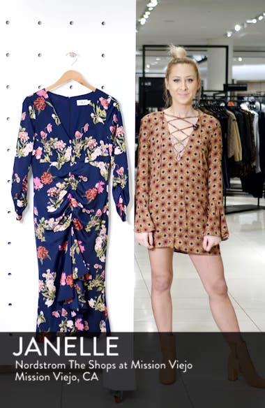 Floral Ruched Midi Dress, sales video thumbnail
