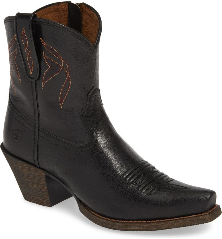 ARIAT Lovely Western Boot, Main, color, JACKAL BLACK LEATHER