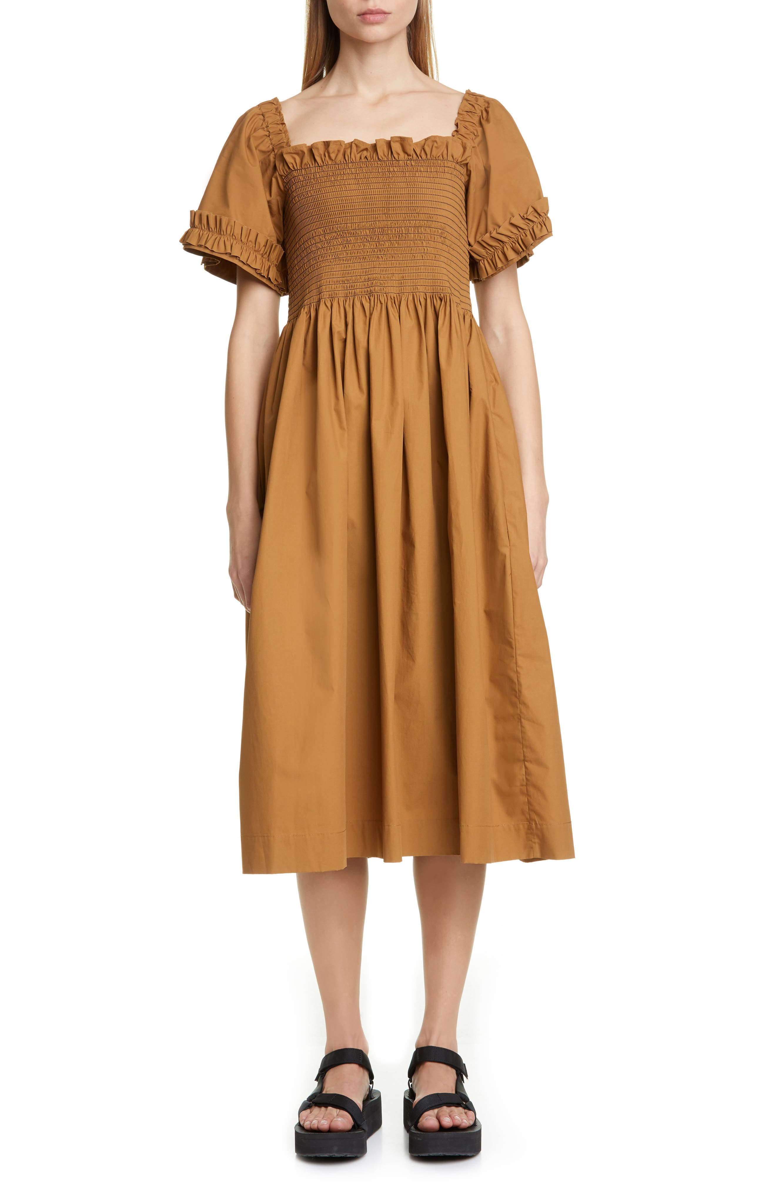 Adelaide Dress, Main, color, BROWN