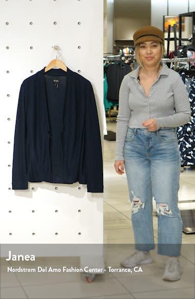 Essence Notched Linen Blend Knit Blazer, sales video thumbnail
