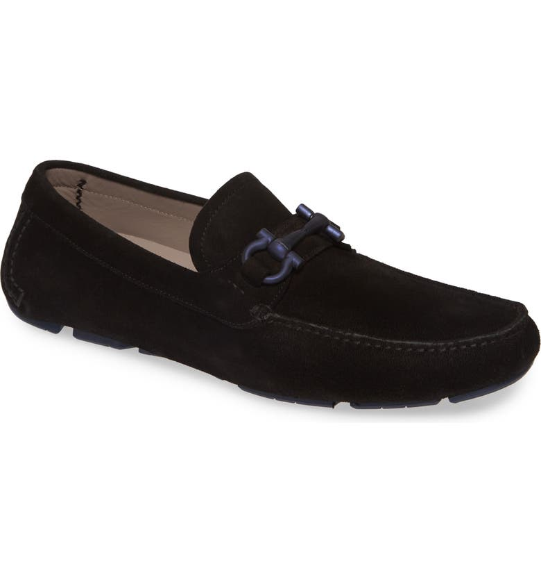 SALVATORE FERRAGAMO Parigi Bit Driving Moccasin, Main, color, NERO/NERO