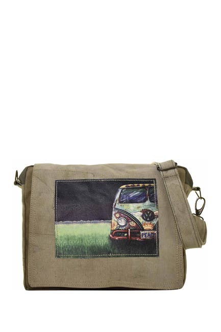 Image of Vintage Addiction VW Peacemobile Tent Crossbody Bag