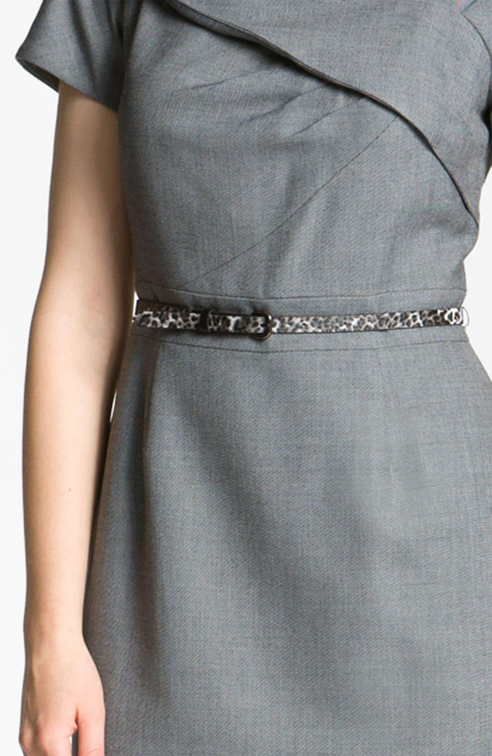 54710d7c29ac Tahari by Arthur S. Levine Asymmetrical Neckline Belted Sheath Dress    Nordstrom