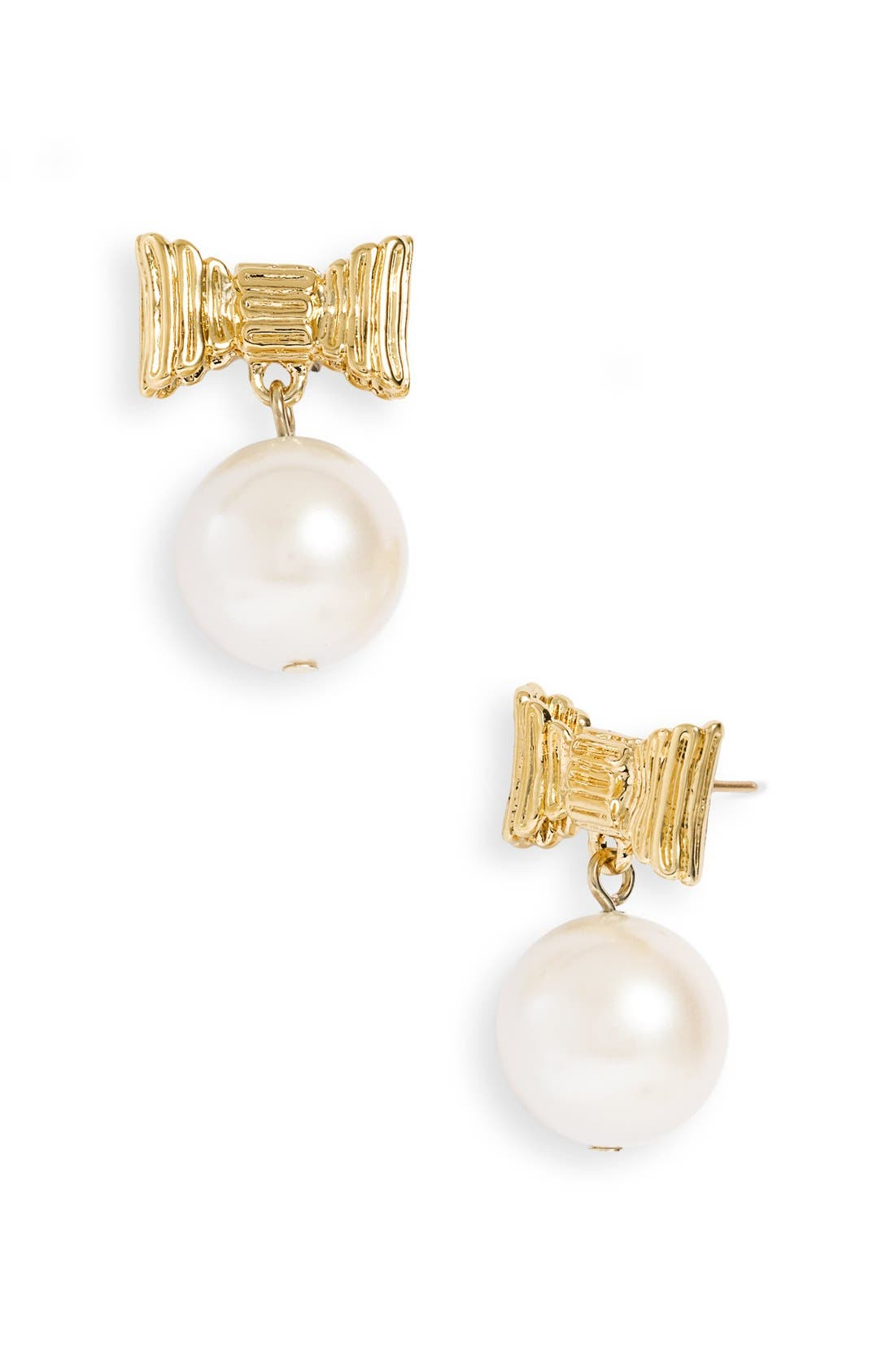 ,                             'all wrapped up' glass pearl earrings,                             Alternate thumbnail 3, color,                             900