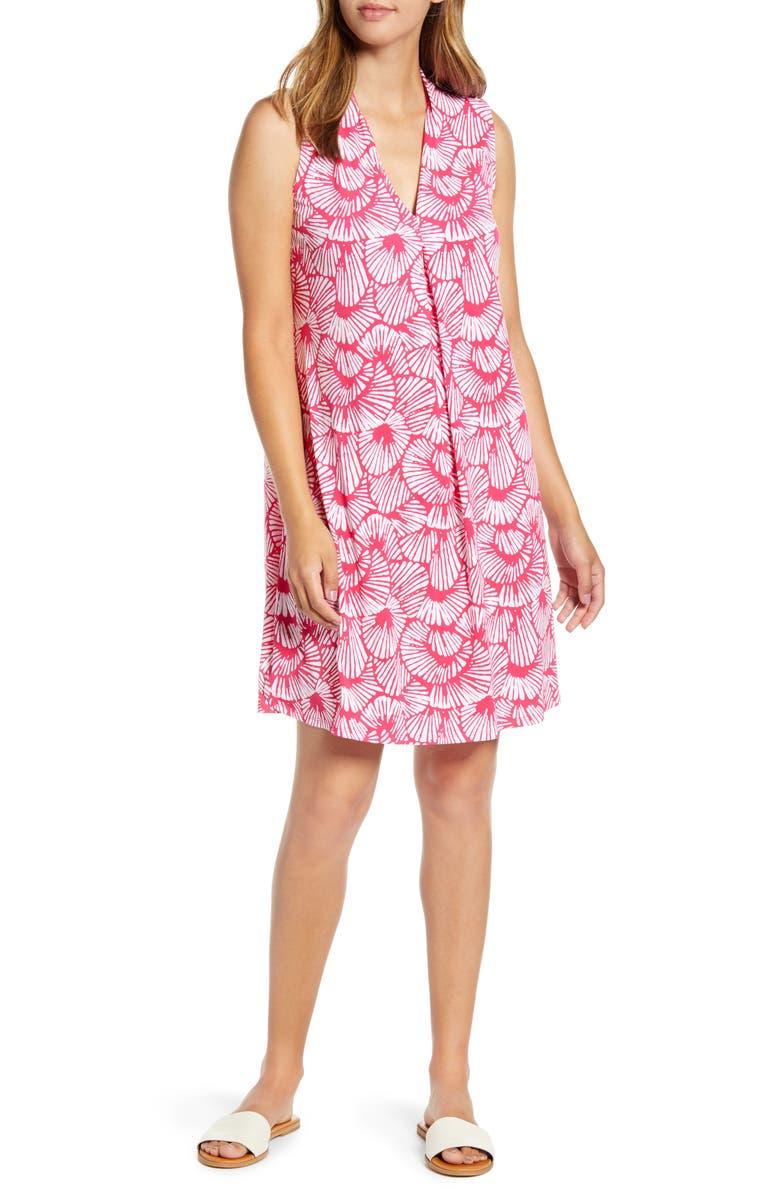 TOMMY BAHAMA Shell We Dance Sleeveless Dress, Main, color, PINK RUFFLE