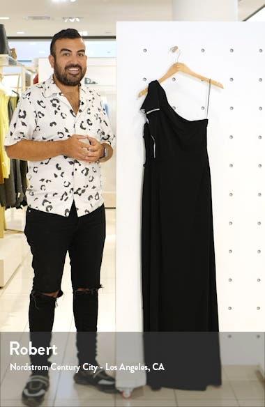 Ruffle One-Shoulder Column Gown, sales video thumbnail