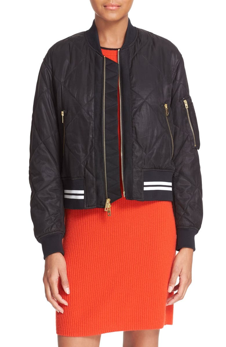 RAG & BONE 'Vine' Bomber Jacket, Main, color, 001