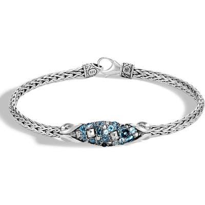 John Hardy Chain Classic Asli Blue Topaz Bracelet
