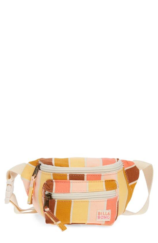 Billabong Kids' Zip It Belt Bag In Sugar Coral