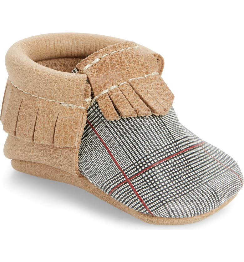 FRESHLY PICKED Plaid Tidings Leather Moccasin, Main, color, 400