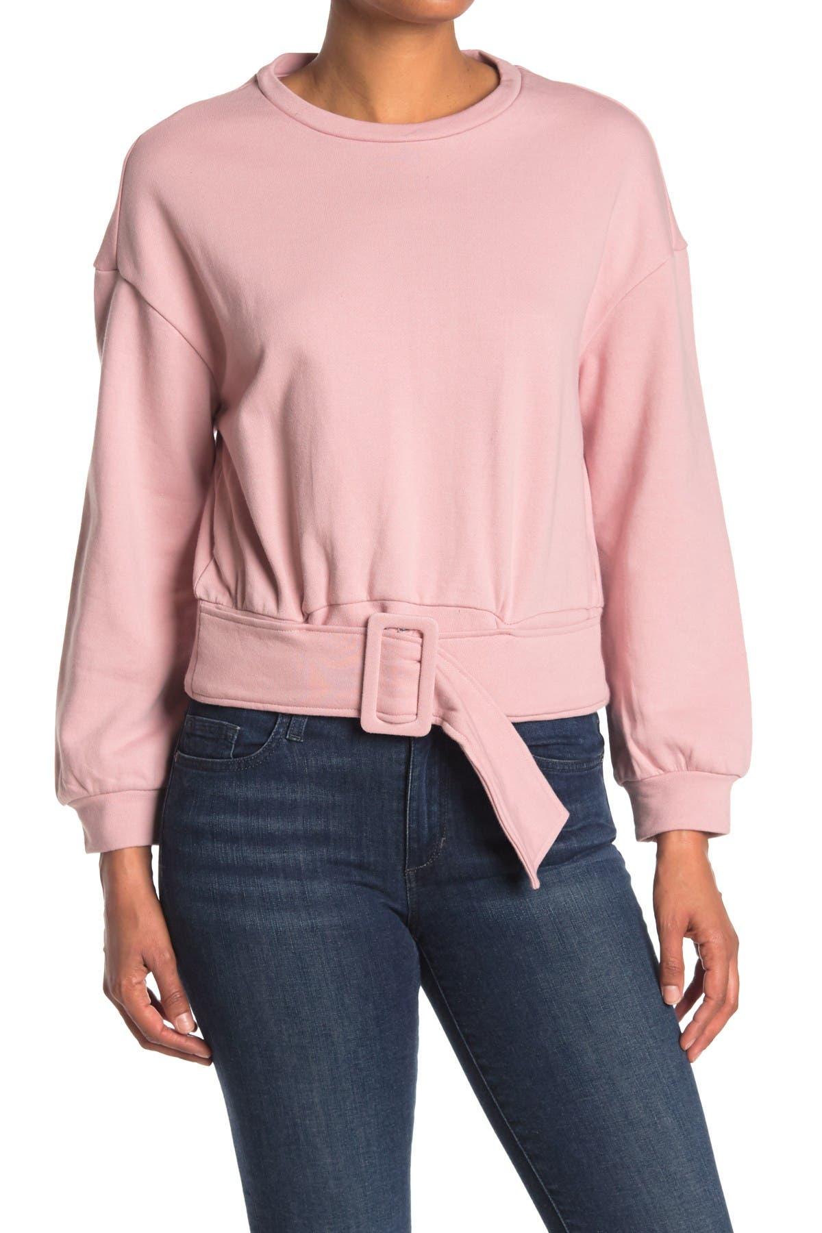 Image of Velvet Heart Savoya Belted Pullover Sweatshirt