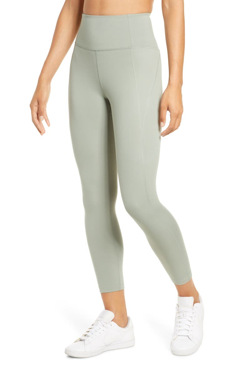 GIRLFRIEND COLLECTIVE High Waist 7/8 Leggings, Main, color, AGAVE