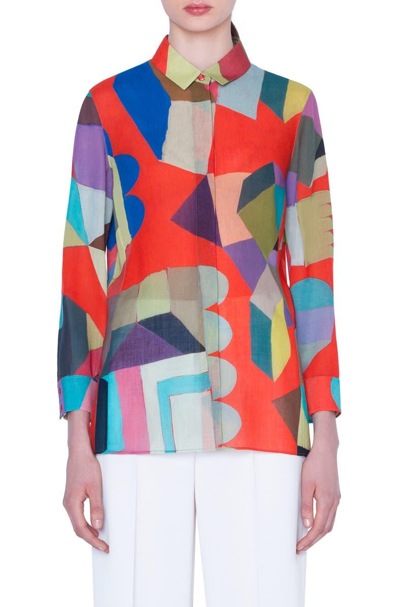 Akris Indian Summer Print Wool Crepe Tunic   Nordstrom