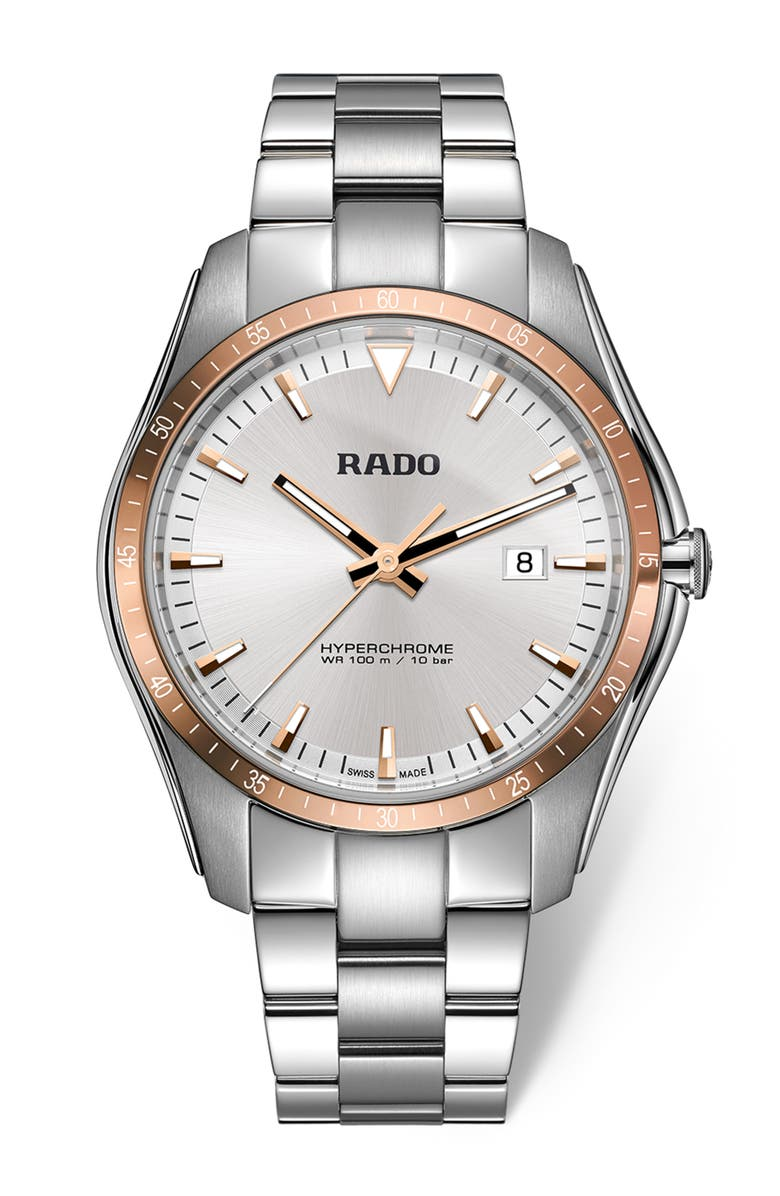 RADO HyperChrome Braclet Watch, 45mm, Main, color, 040