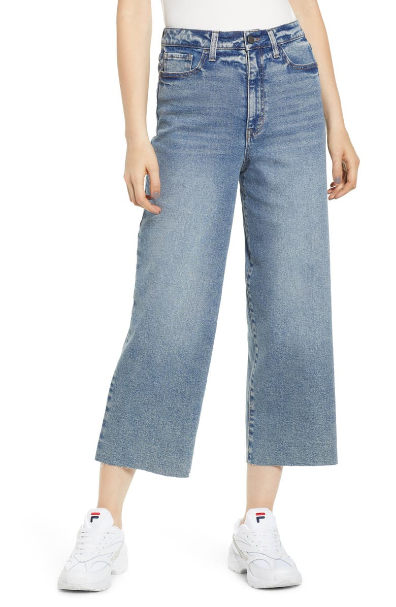 TINSEL Wide Leg Crop Jeans, Main, color, 400