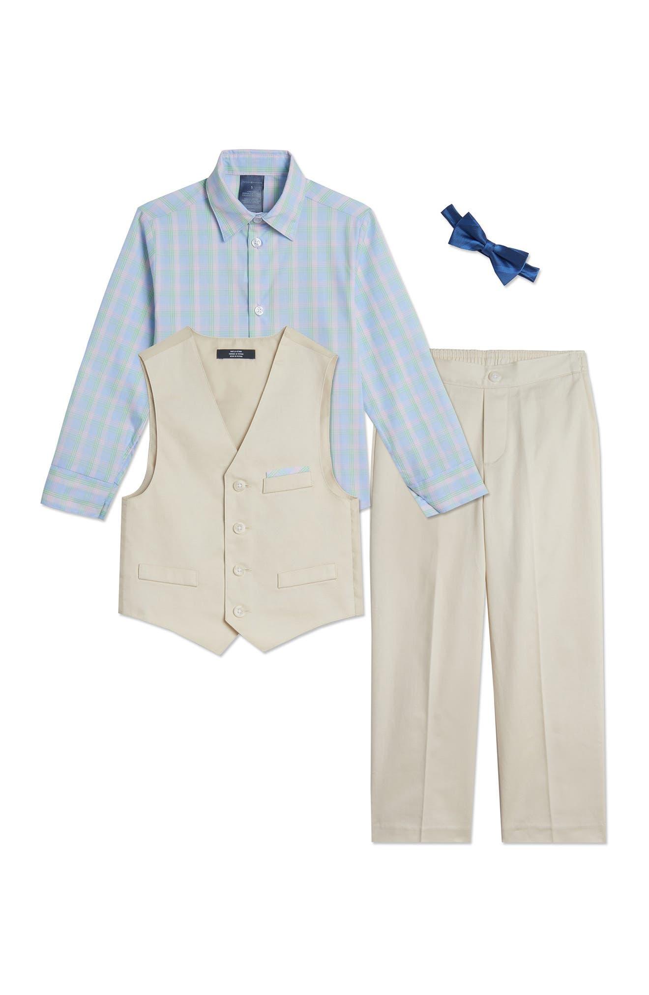 Image of Tommy Hilfiger Solid Twill Vest 4-Piece Set