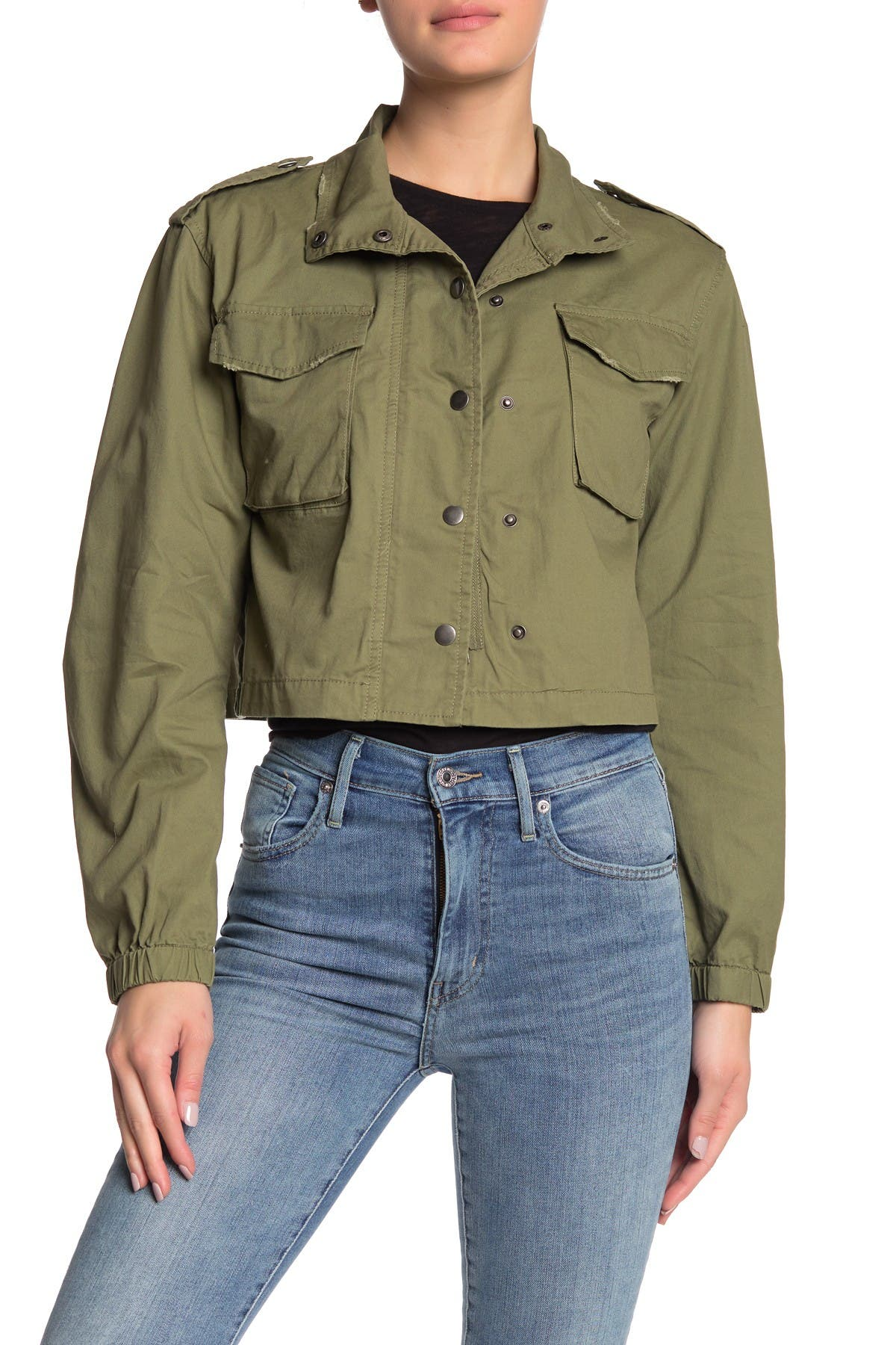 Image of Ten Sixty Sherman Cropped Utility Jacket
