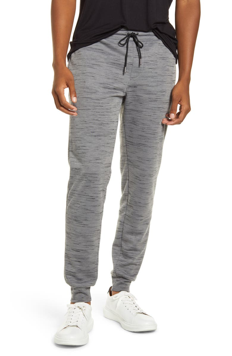 BP. x Alex Costa Space Dye Fleece Joggers, Main, color, GREY DECEMBER/BLACK