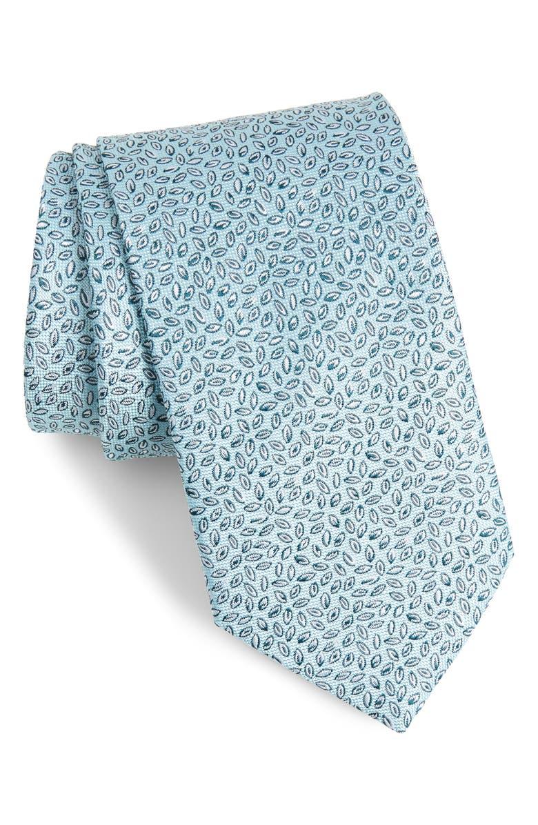 ETON Leaves Silk Tie, Main, color, GREEN