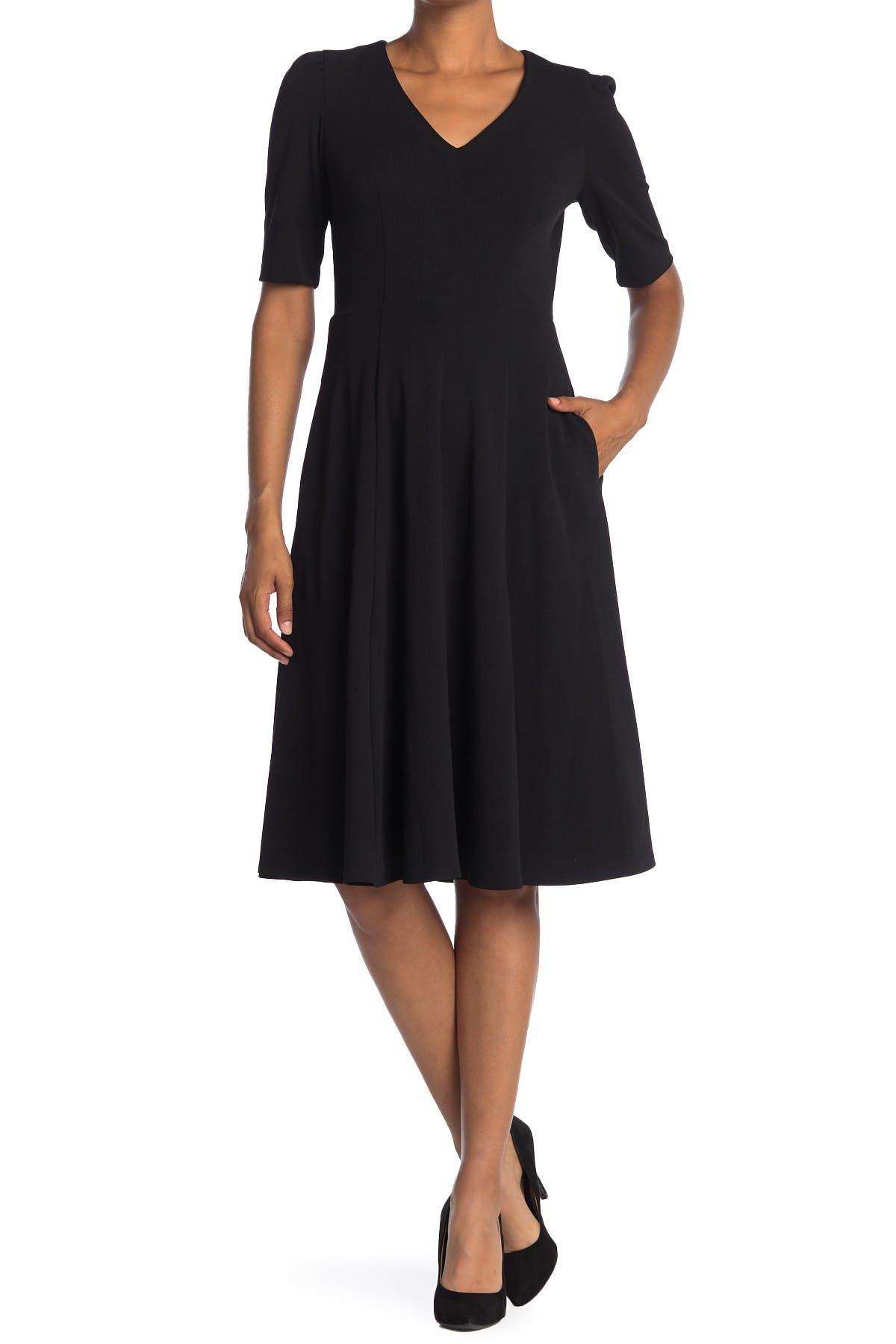 Image of Donna Morgan V-Neck Fit & Flare Dress