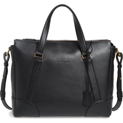 Salvatore Ferragamo Leather Briefcase - Black