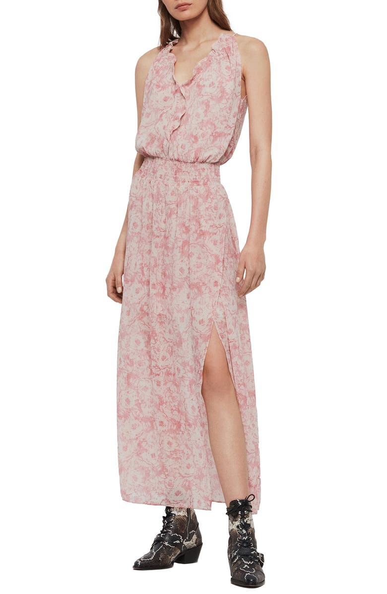 ALLSAINTS Nylah Rosa Maxi Dress, Main, color, PINK