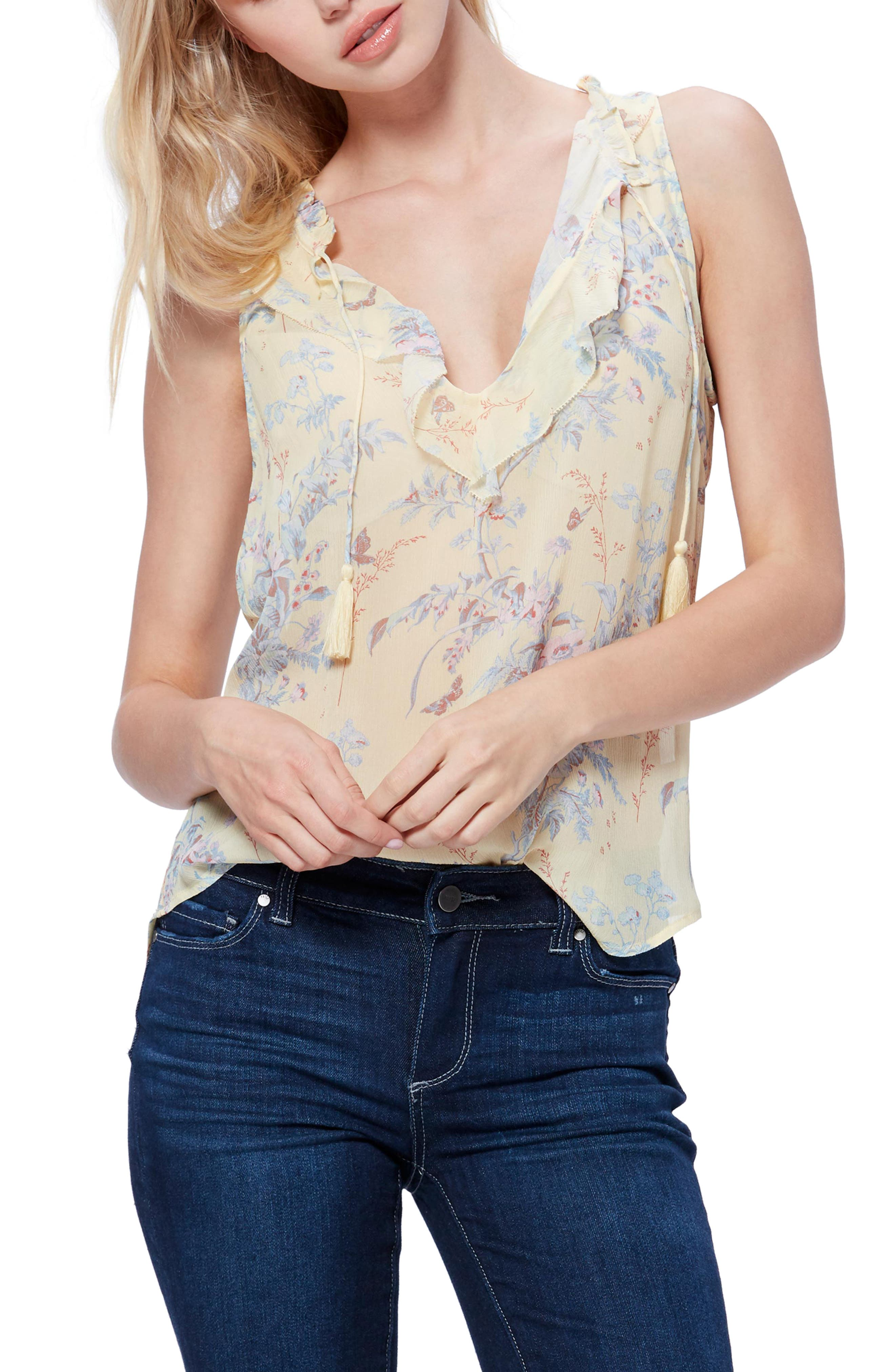 Image of PAIGE Alma Floral Silk Top