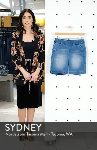 Gracie Stretch Denim Shorts, sales video thumbnail