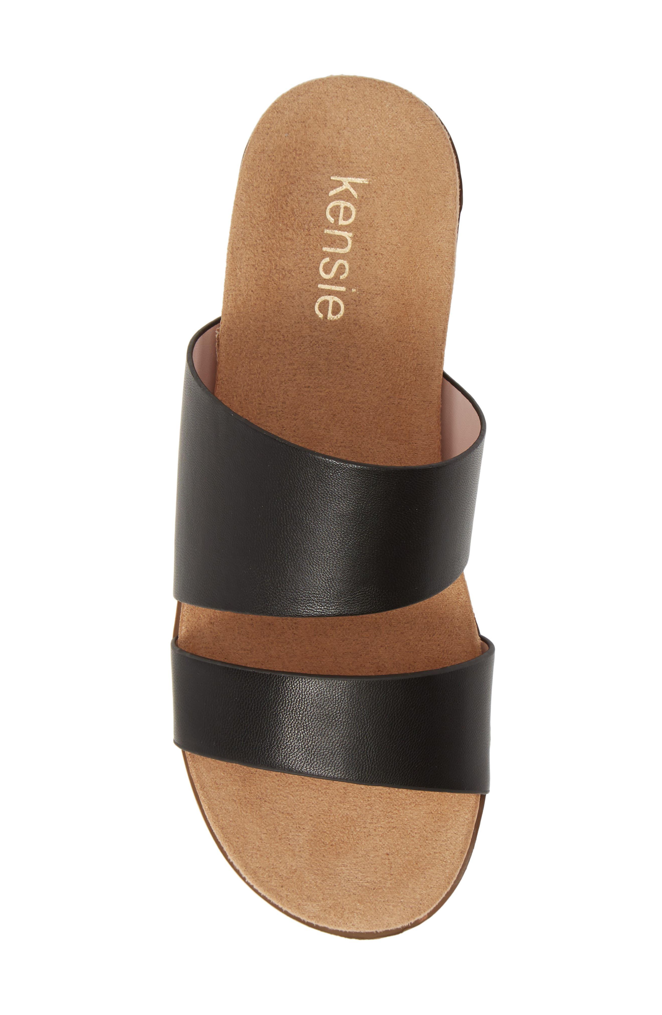 ,                             Danesha Slide Sandal,                             Alternate thumbnail 6, color,                             BLACK