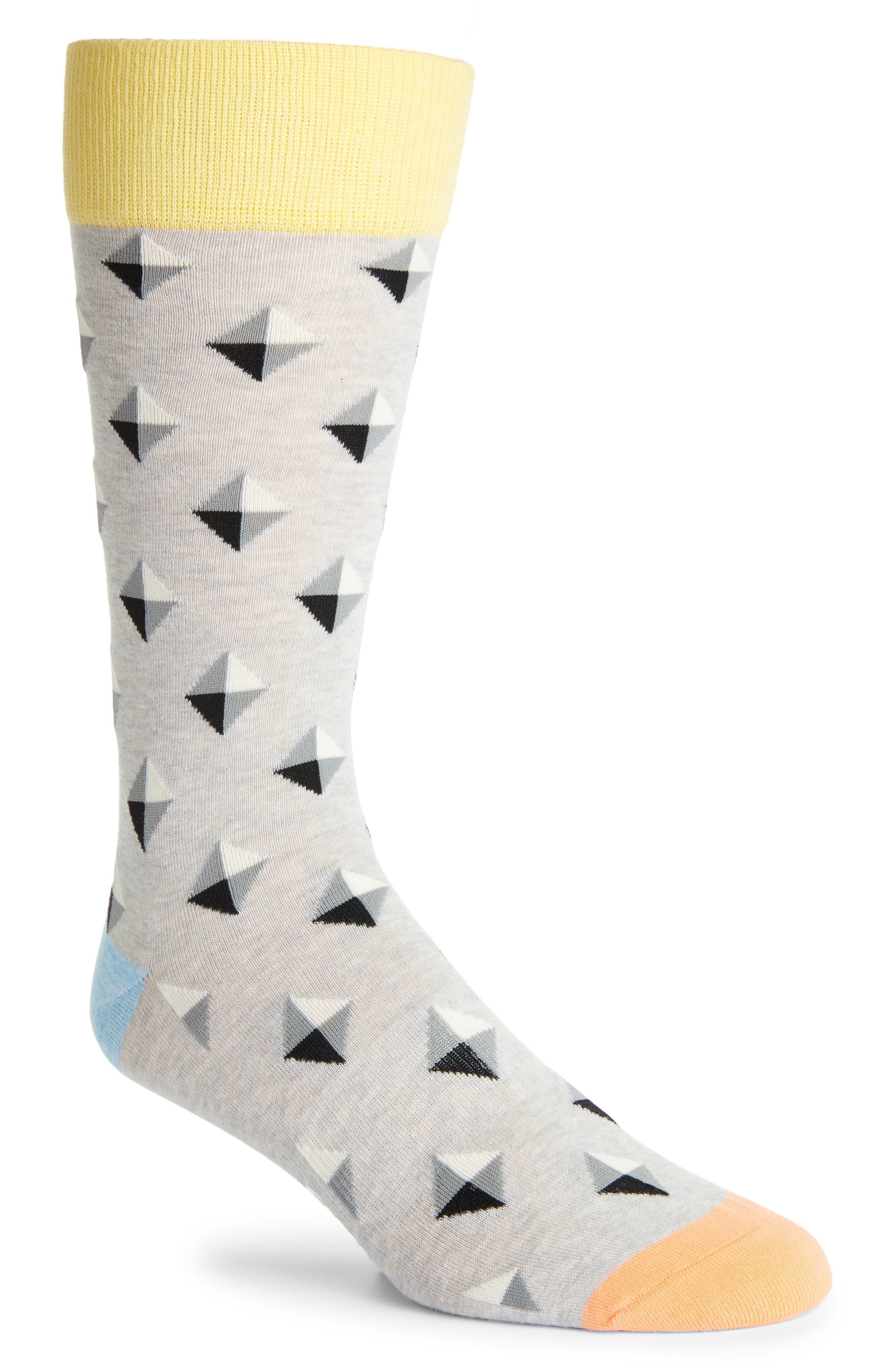 Diamond Pattern Socks