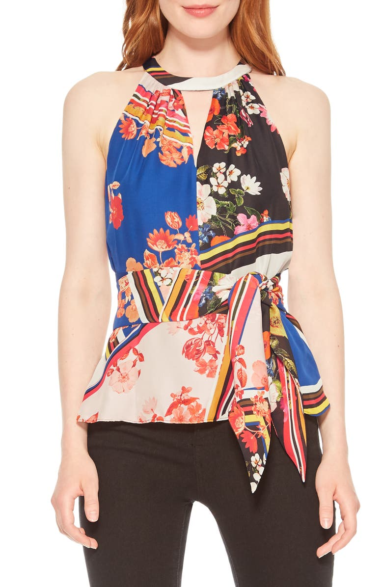 PARKER Alice Mixed Floral Tie Front Top, Main, color, 650