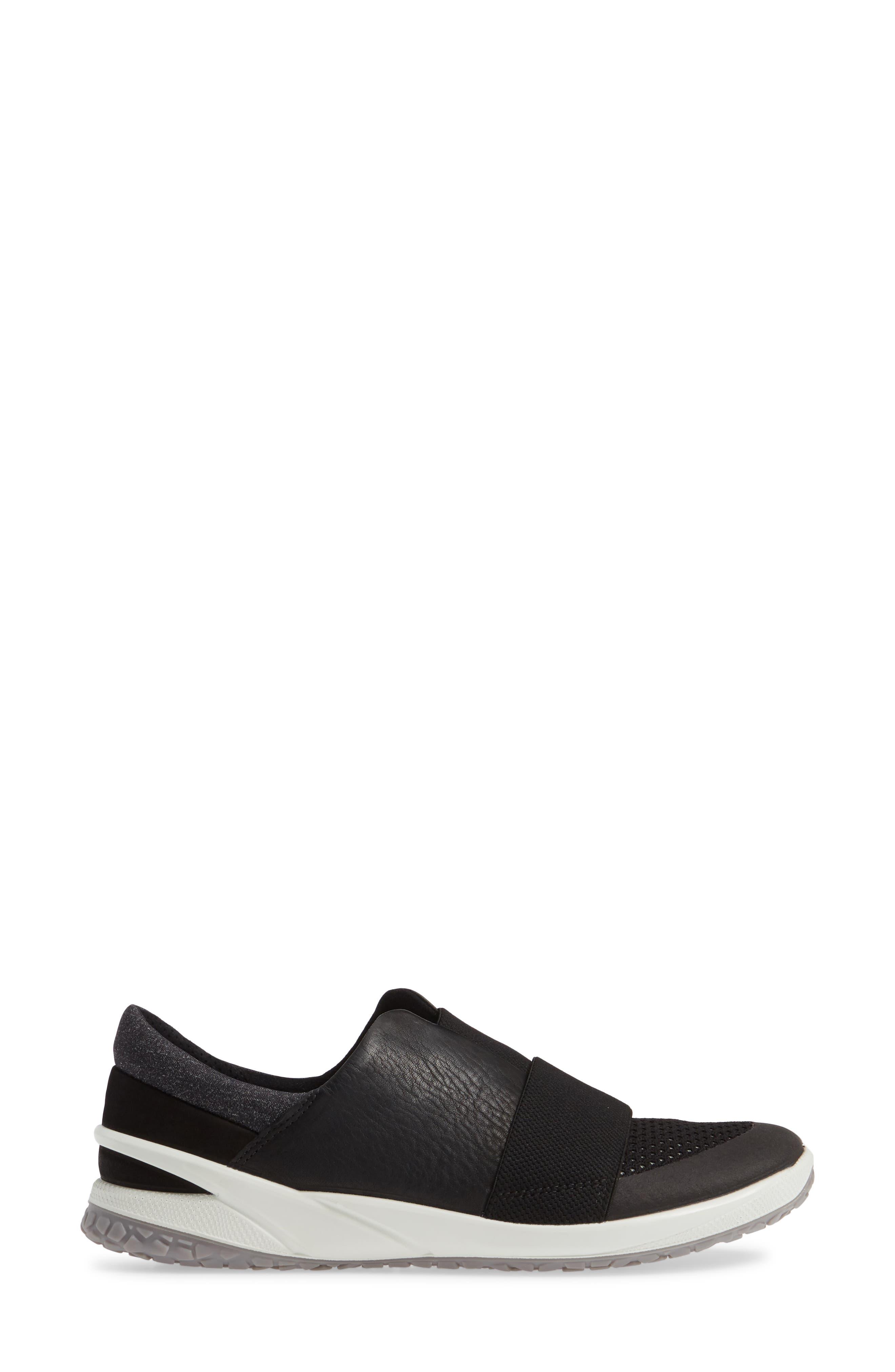 ,                             BIOM Slip-On Sneaker,                             Alternate thumbnail 3, color,                             BLACK LEATHER