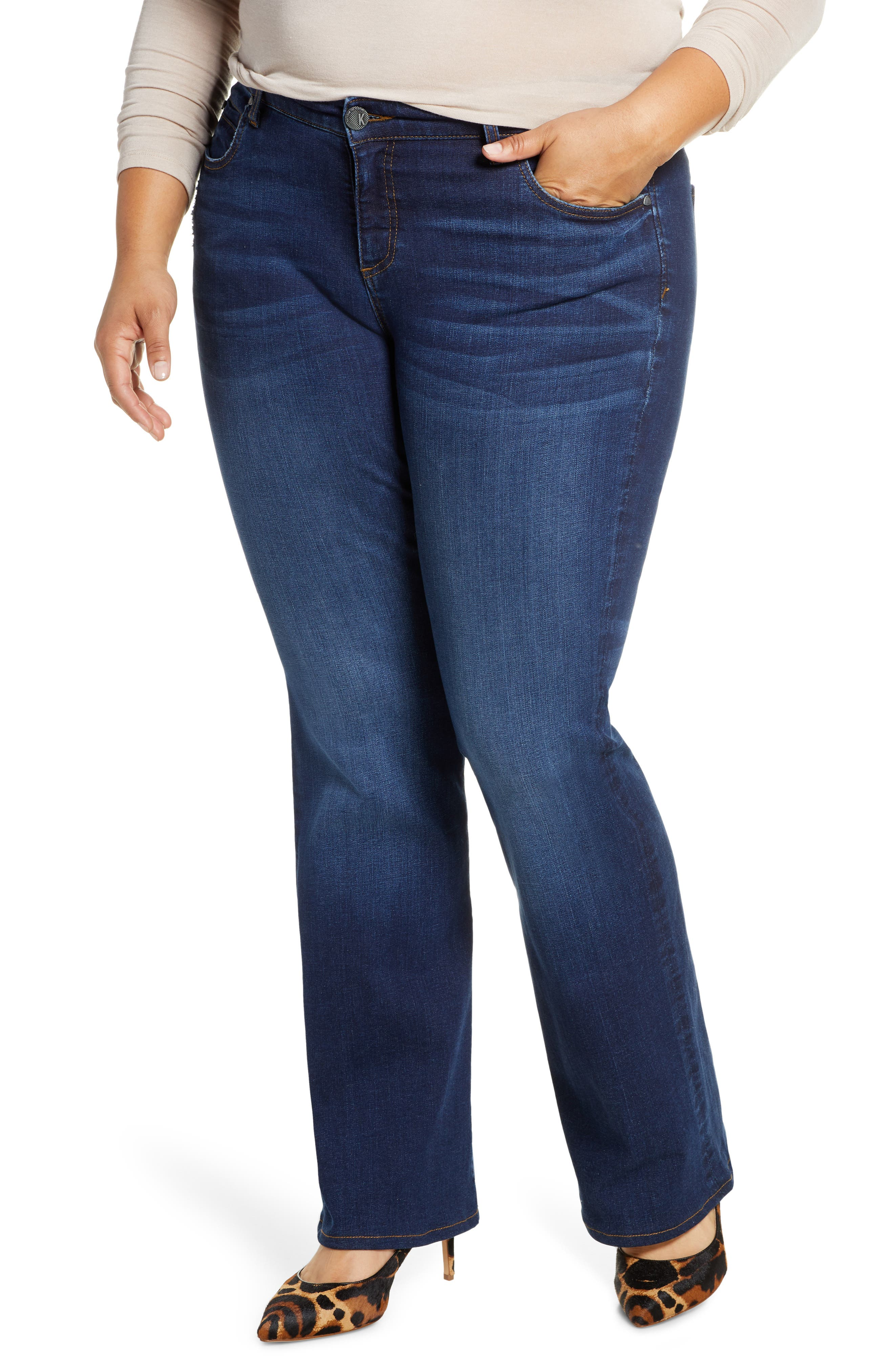 KUT from the Kloth Natalie High Waist Bootcut Jeans (Search) (Plus Size)