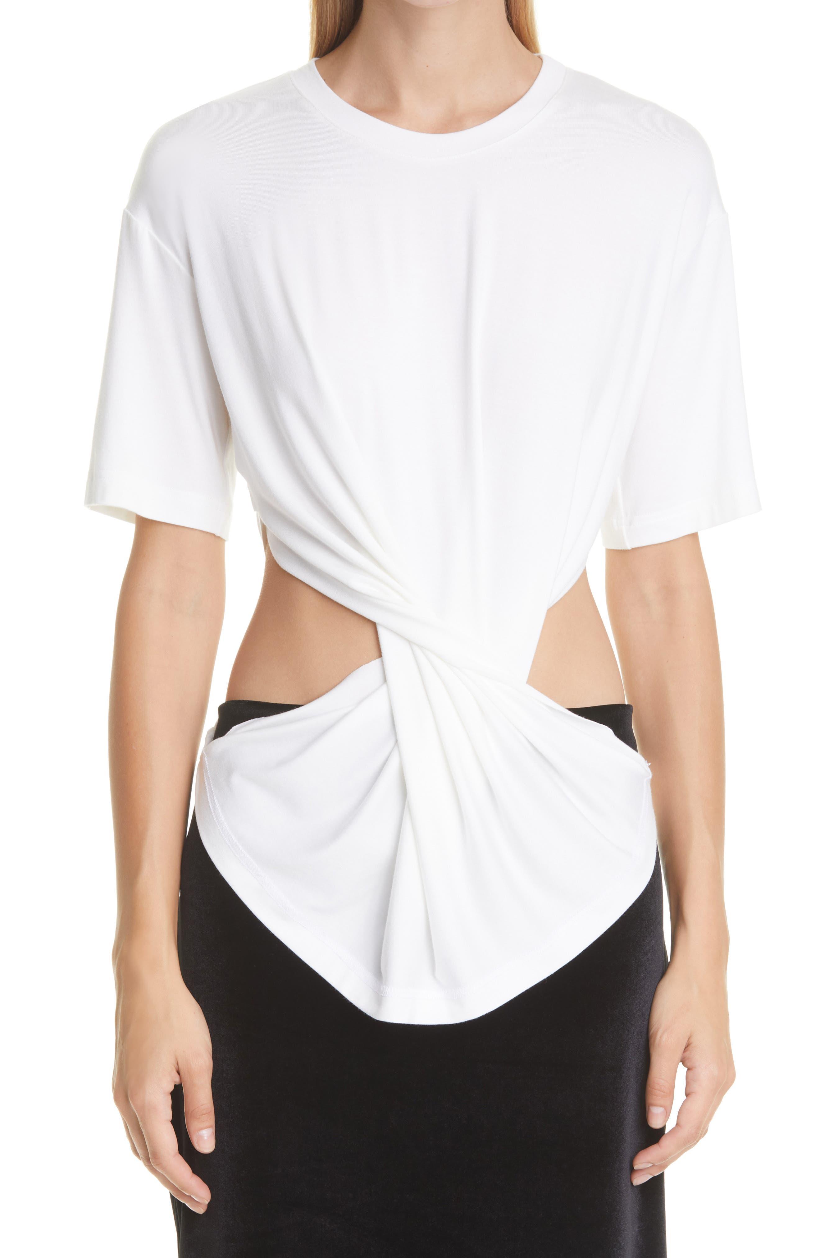 Twisted Cutout T-Shirt