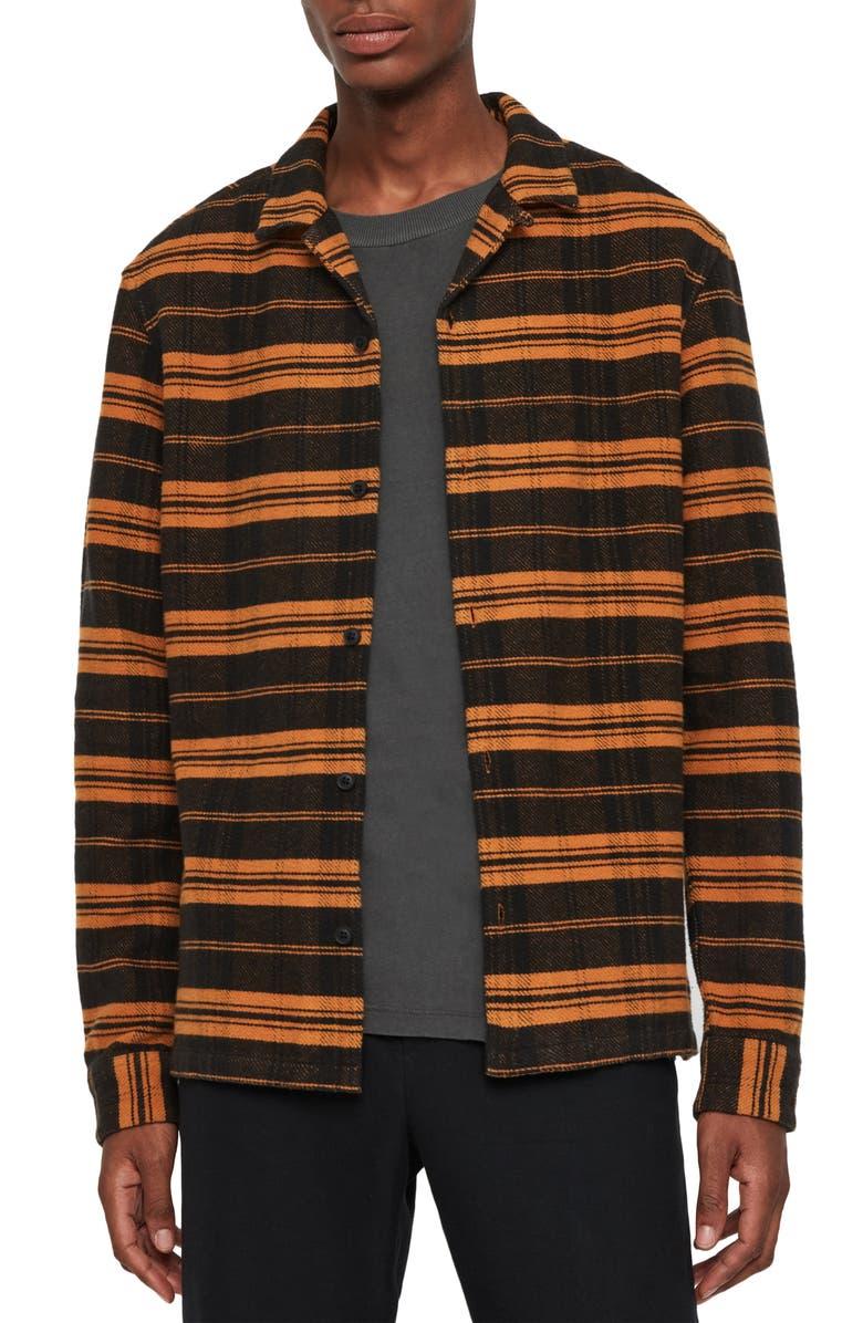 ALLSAINTS Oxbow Slim Fit Stripe Button-Up Shirt, Main, color, 706