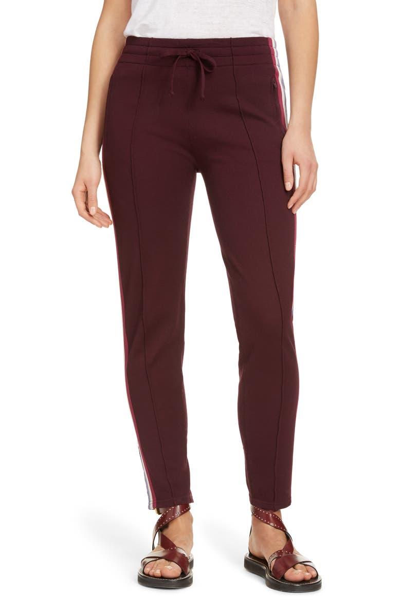 ISABEL MARANT ÉTOILE Darion Track Pants, Main, color, BURGUNDY