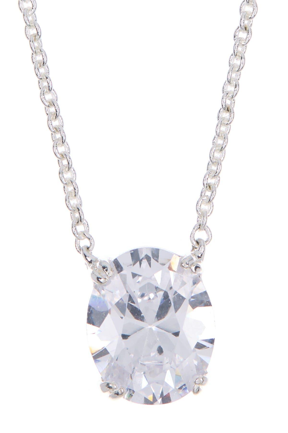 Image of Lauren Ralph Lauren Oval Cut Necklace & Stud Earrings Gift Set