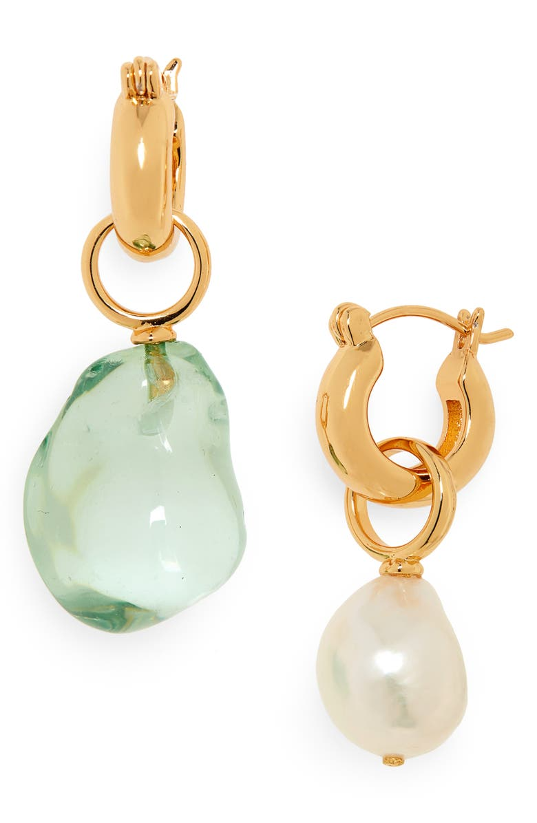 LIZZIE FORTUNATO Island Mismatched Drop Earrings, Main, color, 300