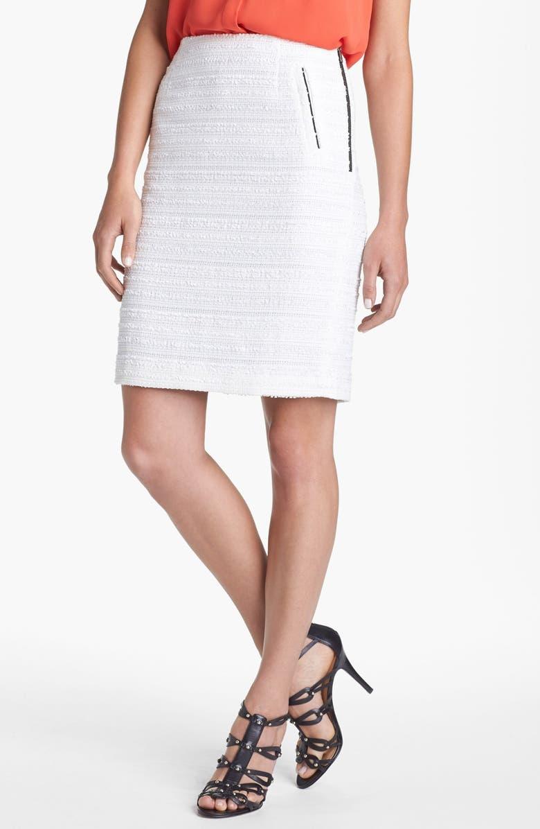 HALOGEN<SUP>®</SUP> Textured Pencil Skirt, Main, color, CREAM CLOUD
