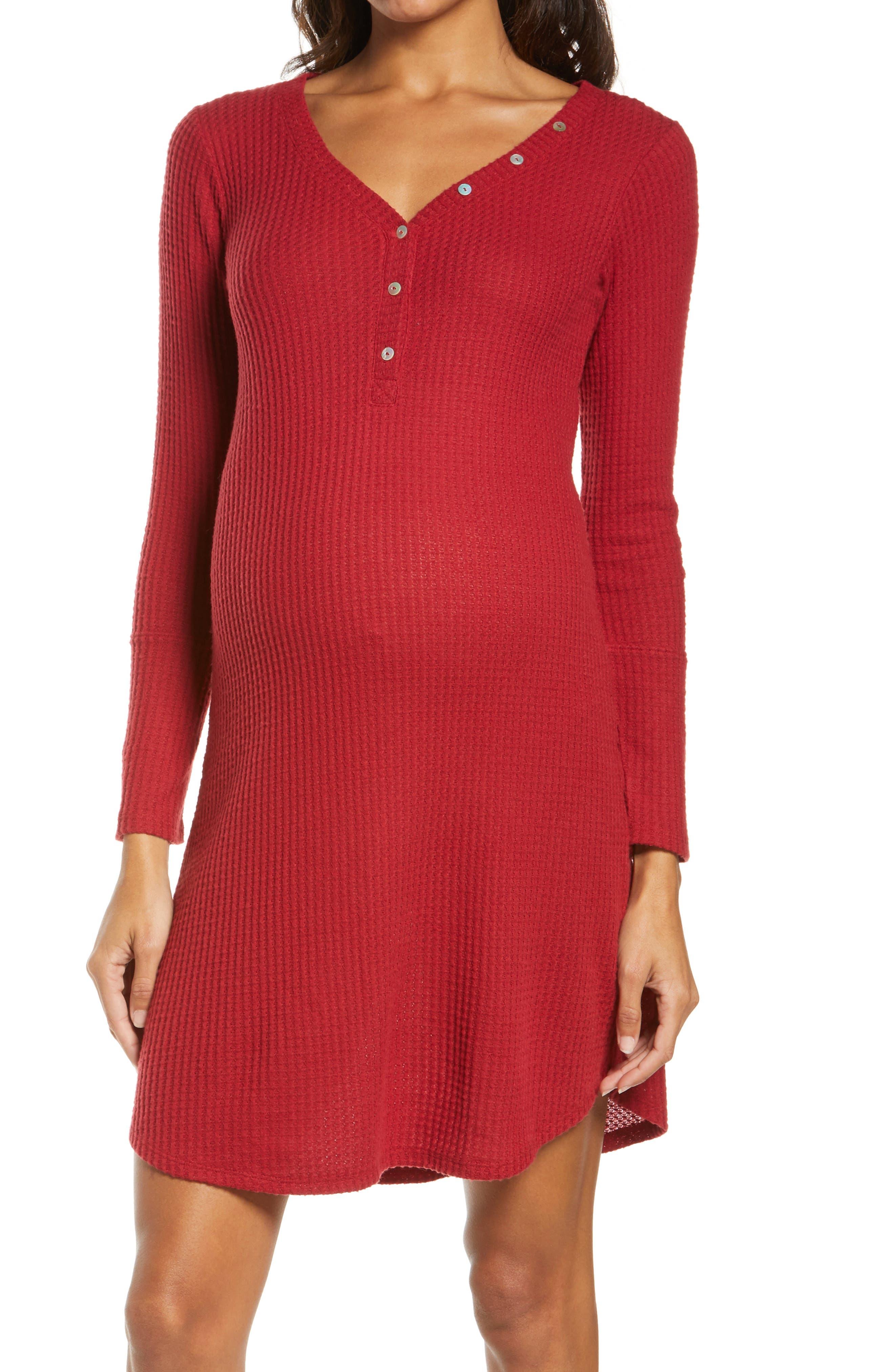 Henley Maternity/nursing Sleep Shirt